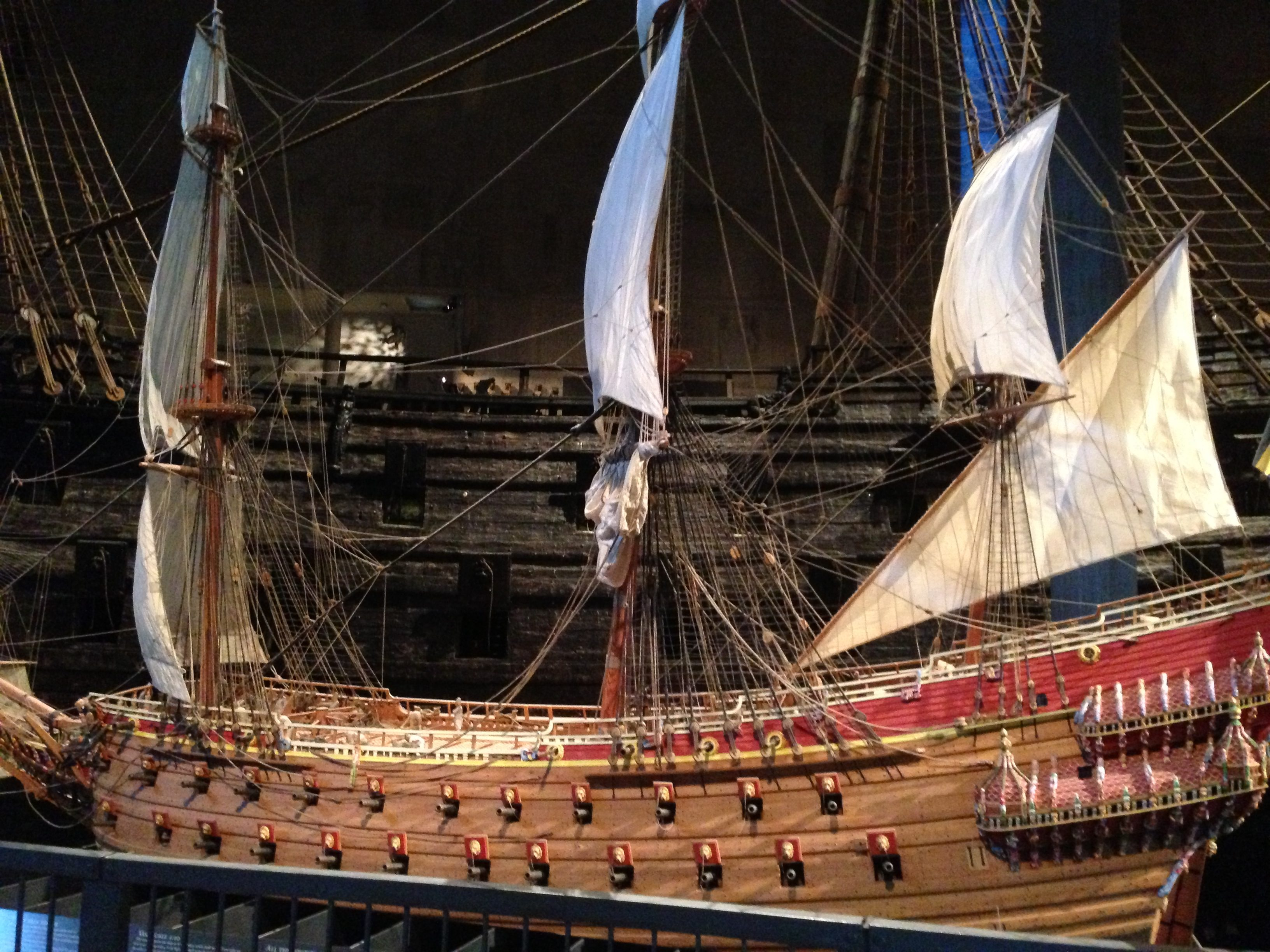 A lower scale replica of what the Vasa looked like