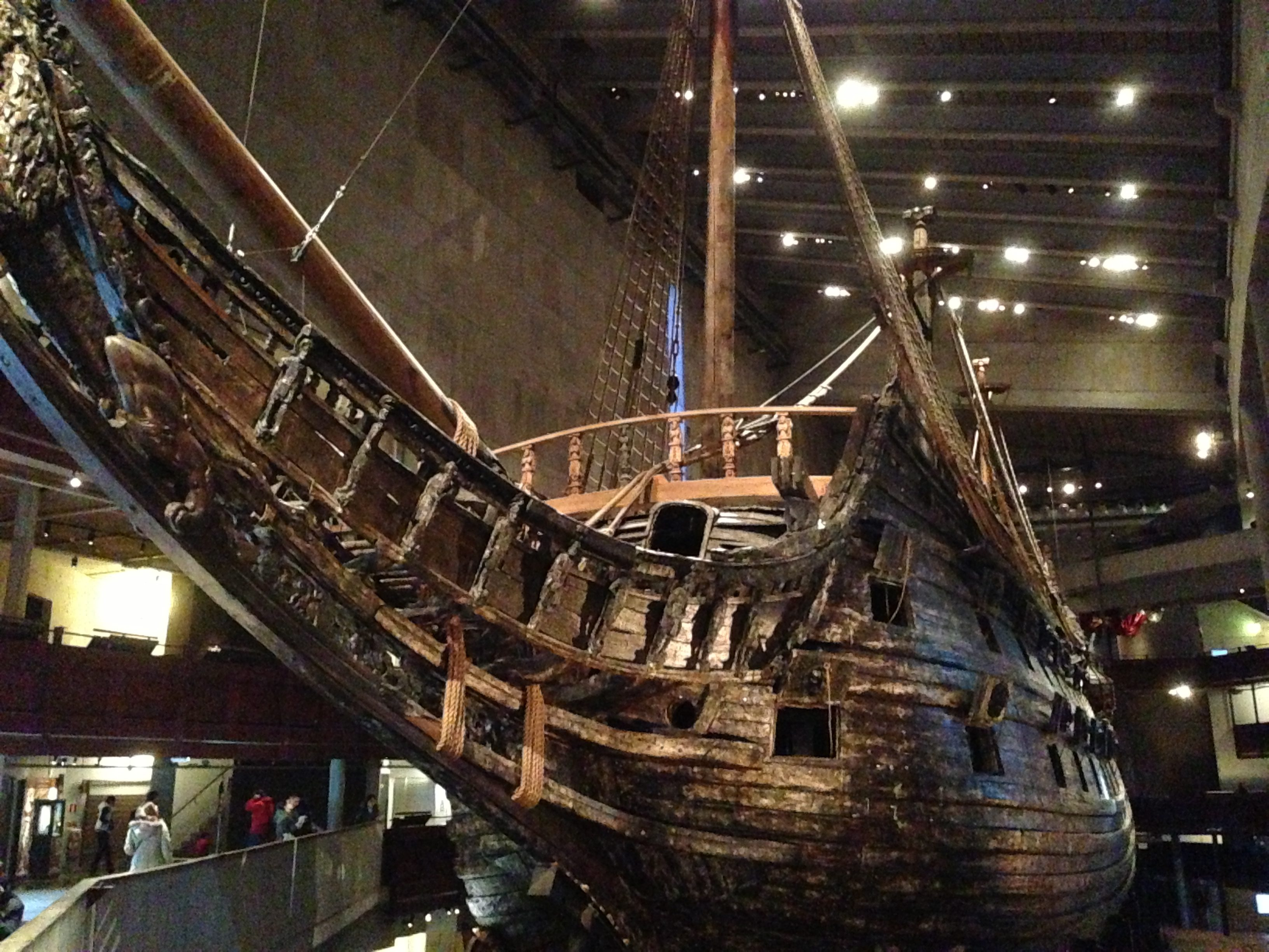 The iconic Vasa ship on display in its Stockholm museum