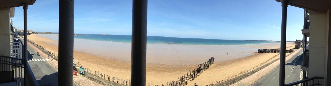 St Malo beach view