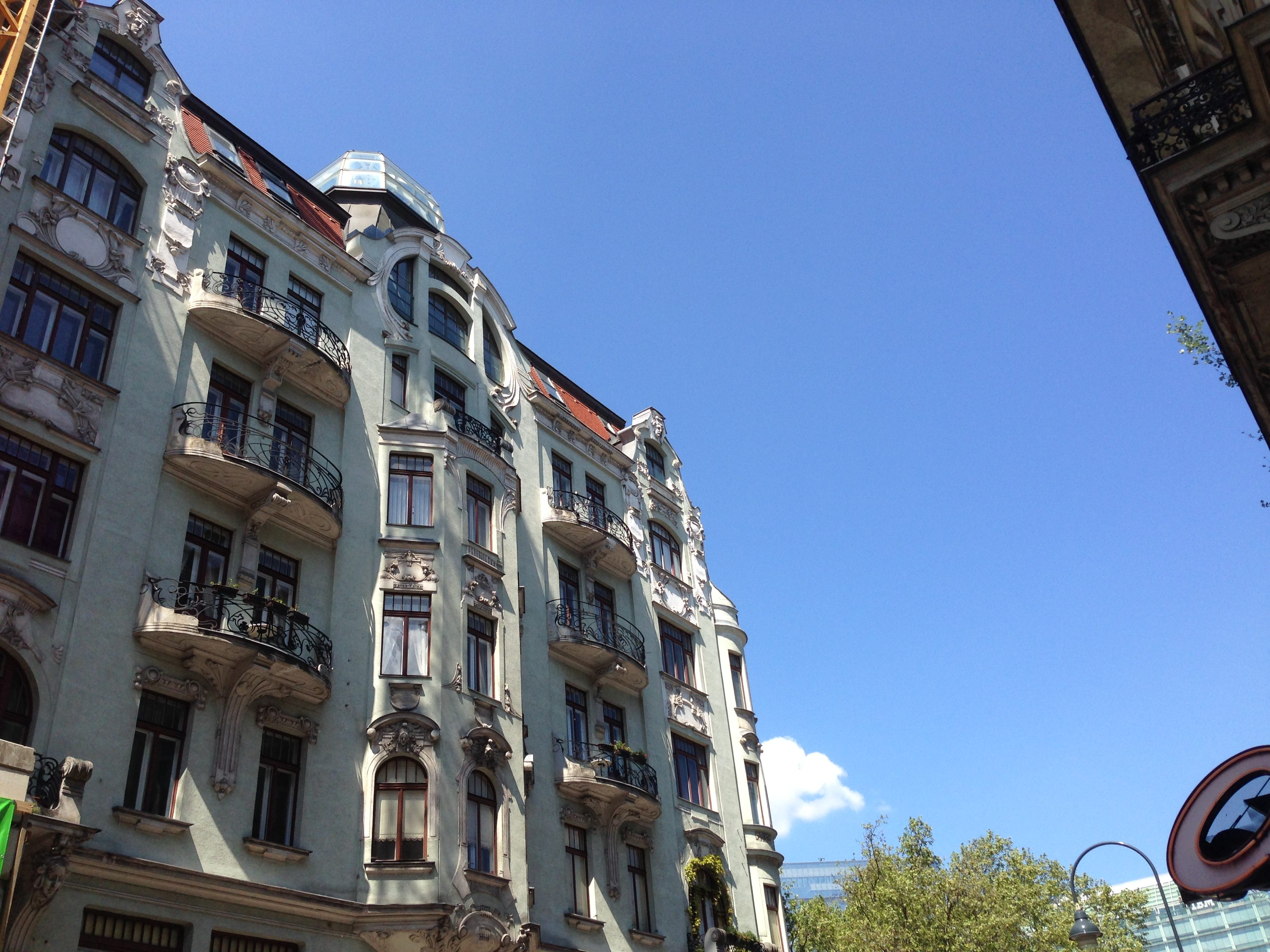 Art Nouveau balconies in Vienna.