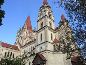Pre-Medieval Romanesque style got a revival too, the St. Francis of Assisi Church being a striking example.