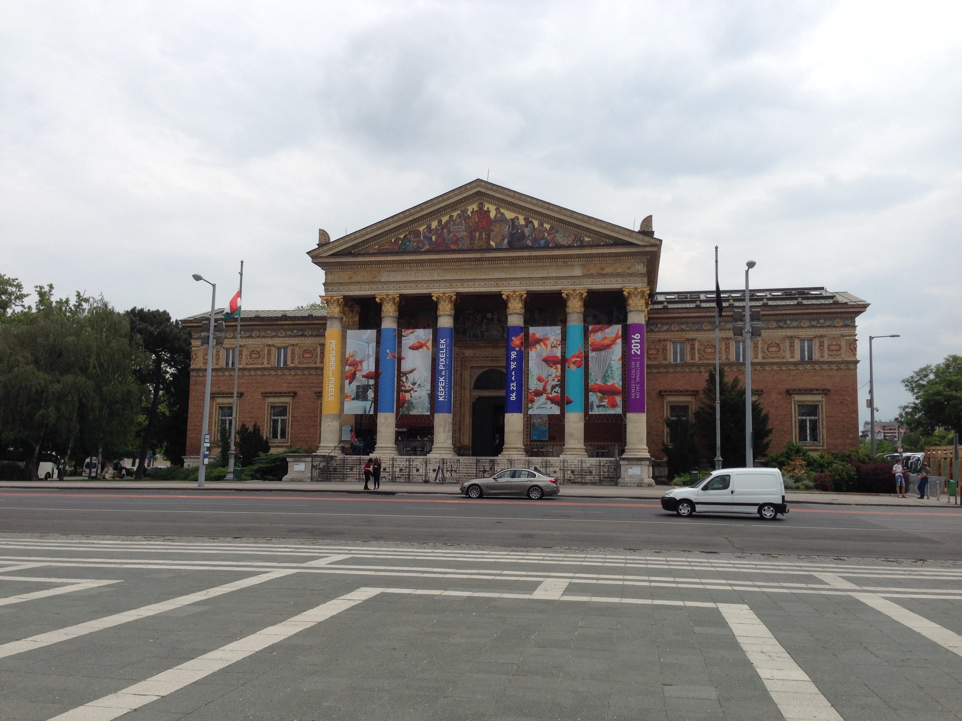 The Palace of Art on Heroes's Square is a must visit for those with a keen interest in contemporary art.