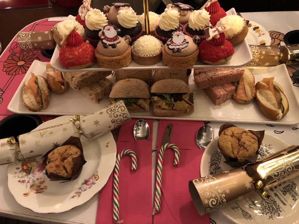 Christmas afternoon tea selection