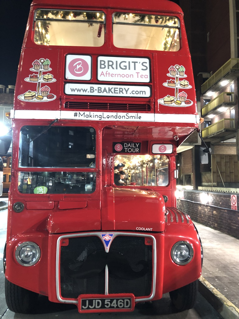 A LONDON CHRISTMAS AFTERNOON TEA BUS WITH BRIGIT'S BAKERY