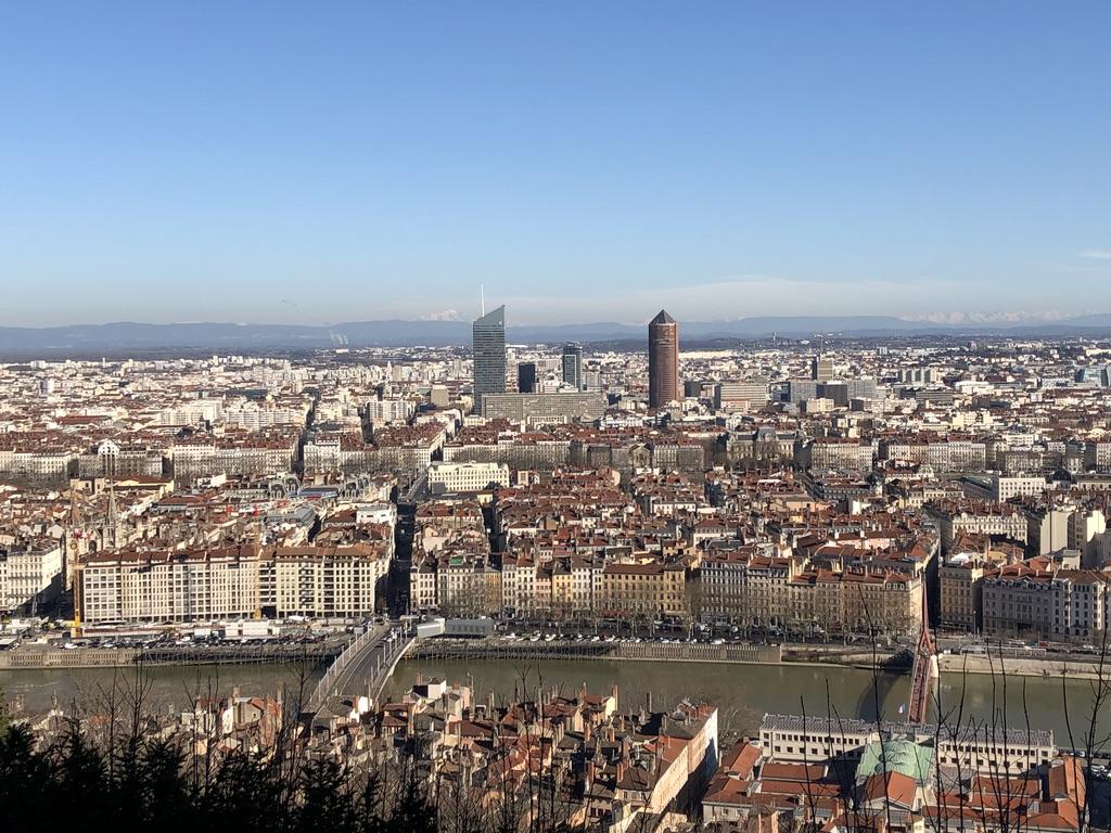 Lyon over the Rhone