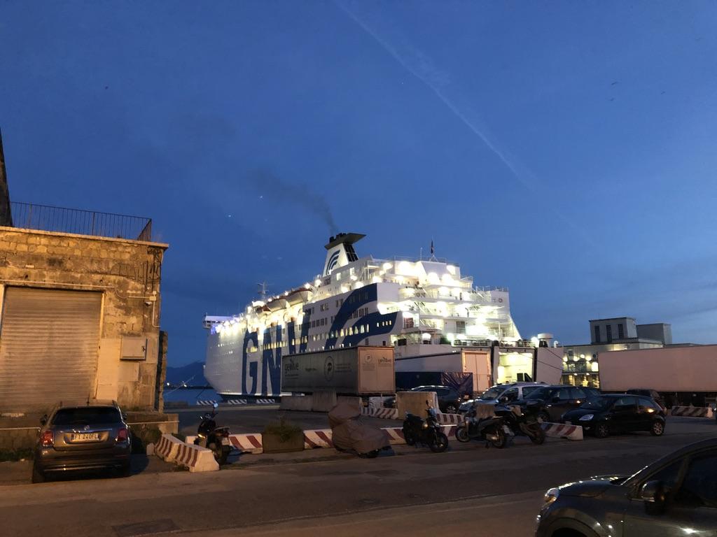 Ferry port in Naples, Italy