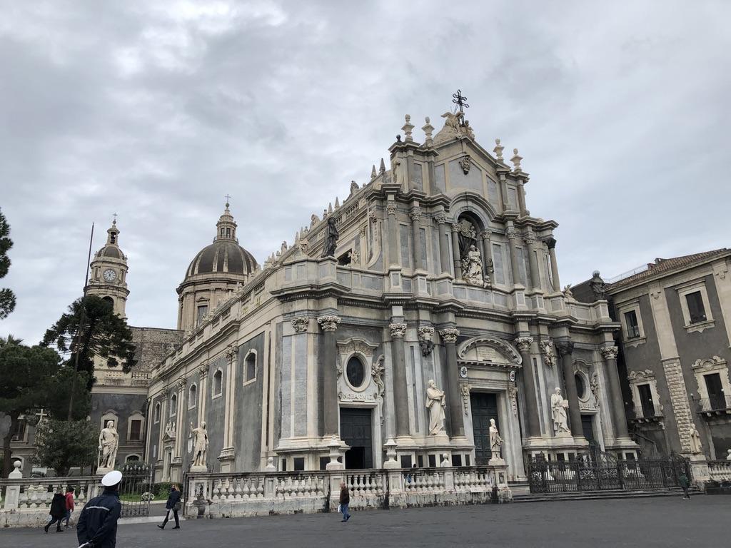 Catania Italy into lockdown.