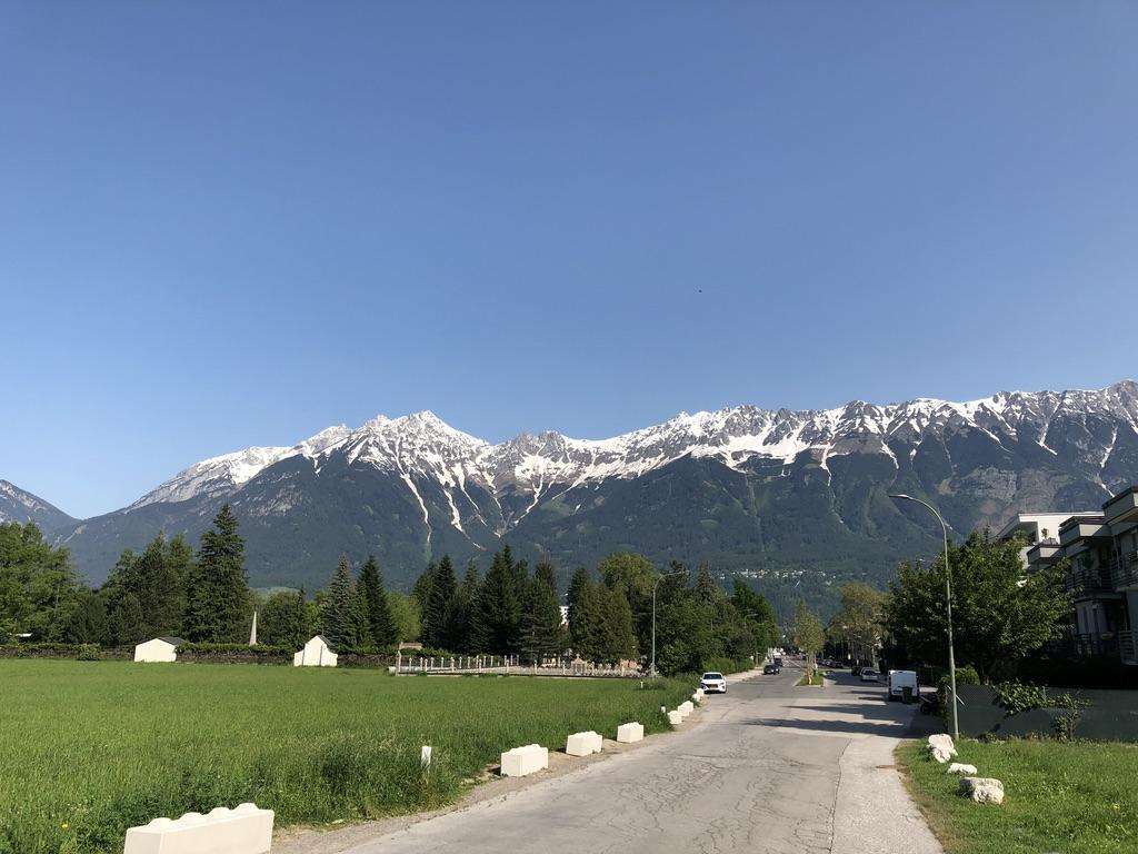 Views from outside Hostel Marmota Innsbruck