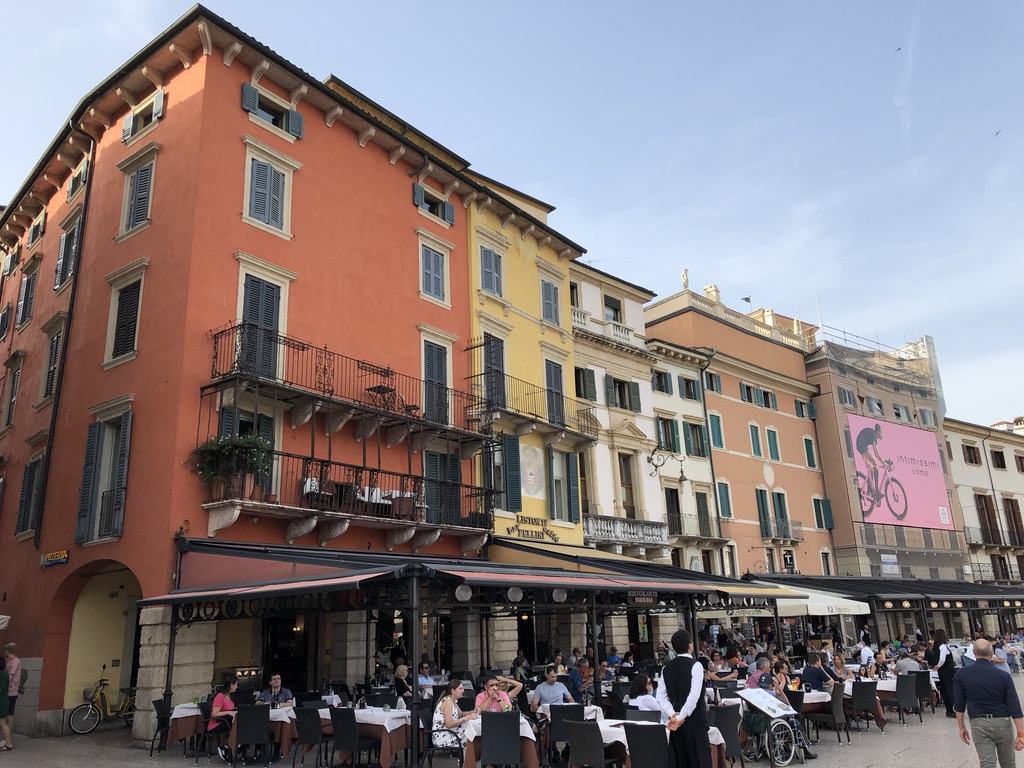 Eating out in the Piazza Bra in Verona