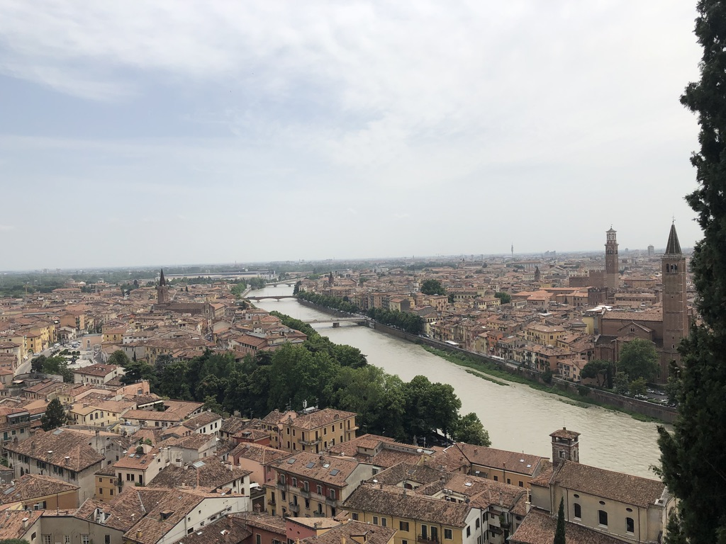 Verona looking over the Adige River from the Castel San Pietro