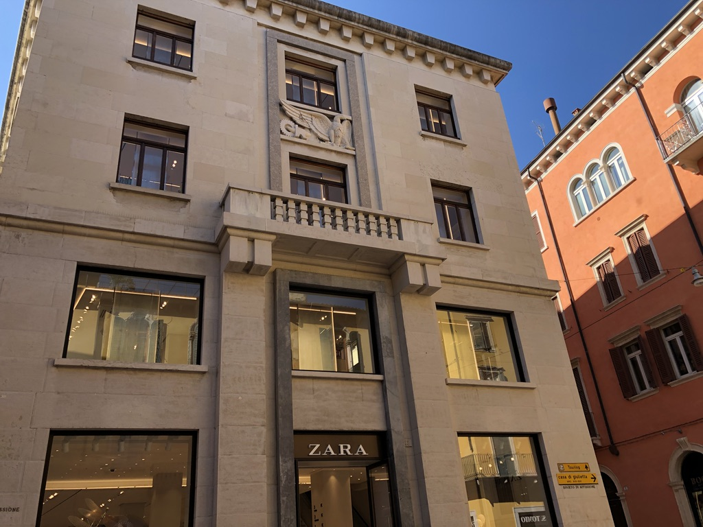 Zara store on the Via Mazzini in Verona