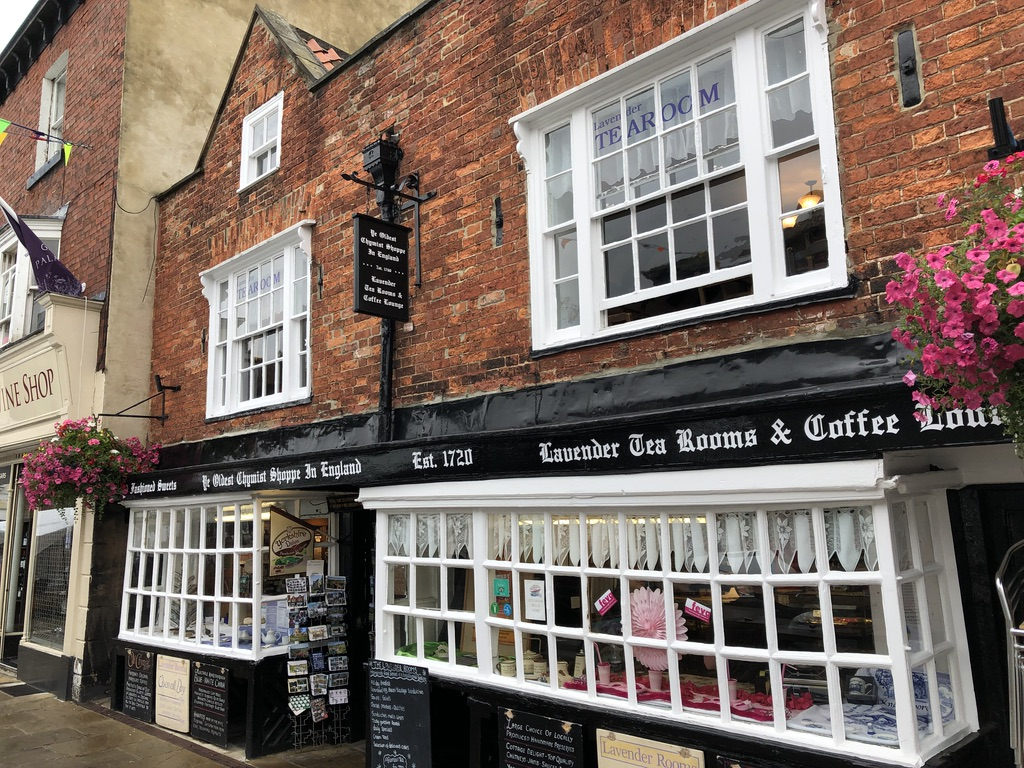 Old shops and tearooms in Knaresborough